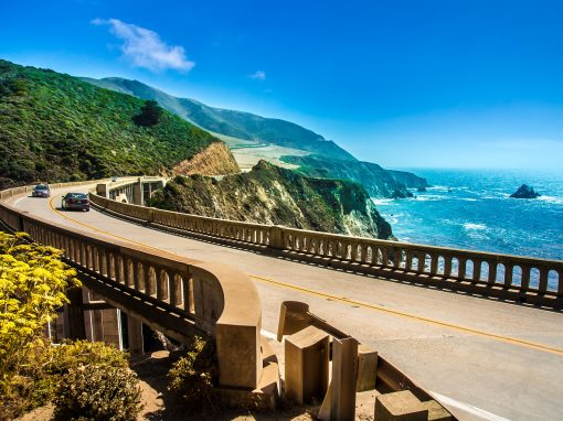Pacific Coast Highway, from mountain to ocean