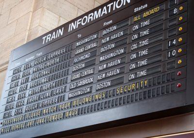 Boston, New York, Philadelphia & Washington DC by train